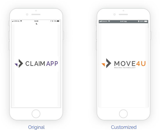 ClaimApp Custimzed for your company